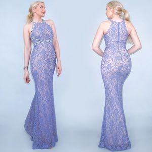 Lilac Purple Glam Prom Dress